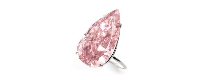 Pear cut unique pink diamond