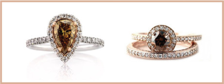Cognac diamonds give your engagement ring a truly unique style