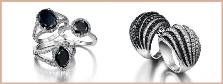 Black diamonds have given brides the opportunity to be less traditional