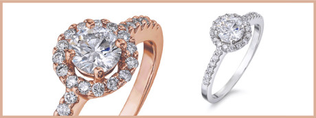 The Halo, is the second most popular style engagement ring amongst future brides