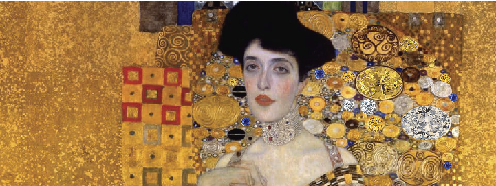 Gustav Klimt painted in gold – a popular material used in diamond jewellery