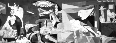 modern collage artwork in black and white