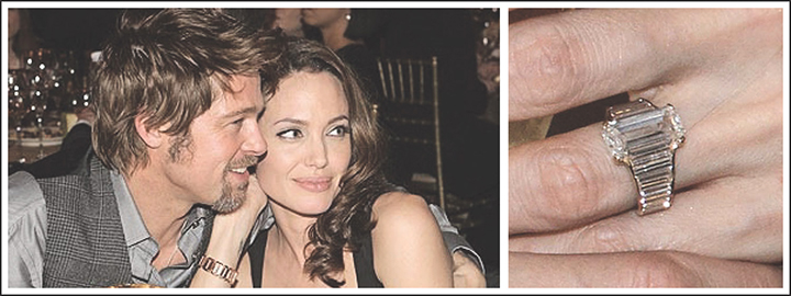 Brad Pitt helped design estranged wife, Angelina Jolie's diamond engagement ring