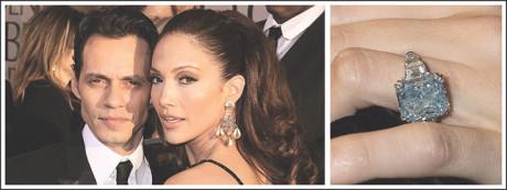 Marc Anthony gave Jennifer Lopez a rare blue diamond