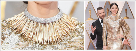 Jessica Biel's necklace was the real show-stopper at the Oscars 2017