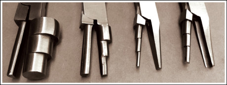 Step jaw pliers will assist the diamond jeweller to make loops