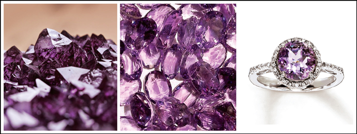 The amethyst is often associated with royalty and nobility
