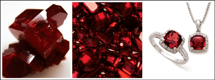 The garnet symbolises friendship, love and passion