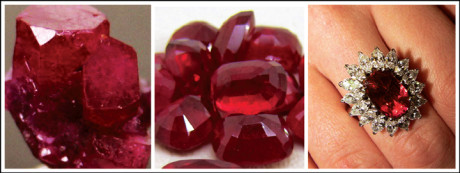 A ruby is often referred to as the king of all gemstones