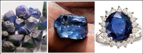 A sapphire gemstone represents serenity, peace and calmness