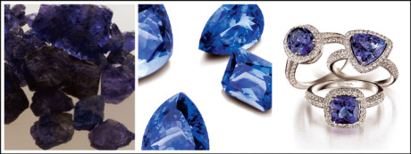 A beautiful tanzanite gemstone represents fidelity, love and confidence