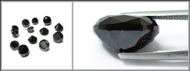 Black diamonds reflect no form of light