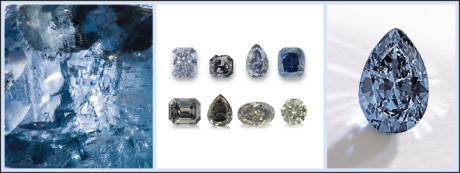 Grey and blue diamonds get their colour from the chemical element, boron