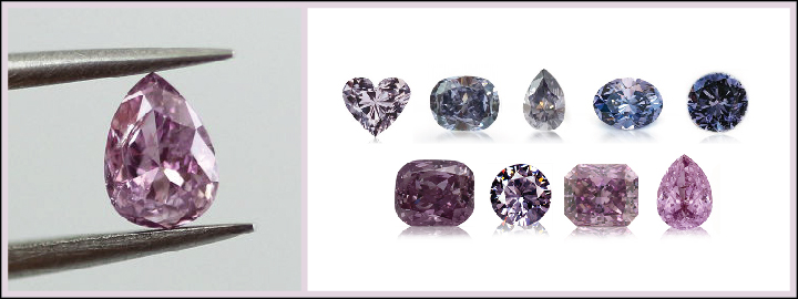 Violet diamonds can be found in the Western Australia