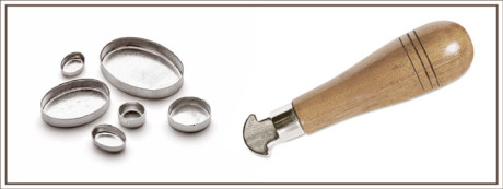 The bezel rocker is used to neatly secure the gemstone in place