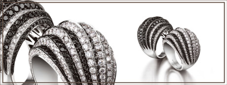 The pavé setting gives smaller gemstones extra sparkle