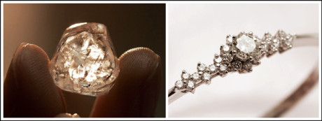 Most jewellers would be able to source synthetic diamonds directly from the labs