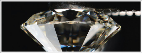 Some jewellers will provide a diamond with an identification number on the girdle