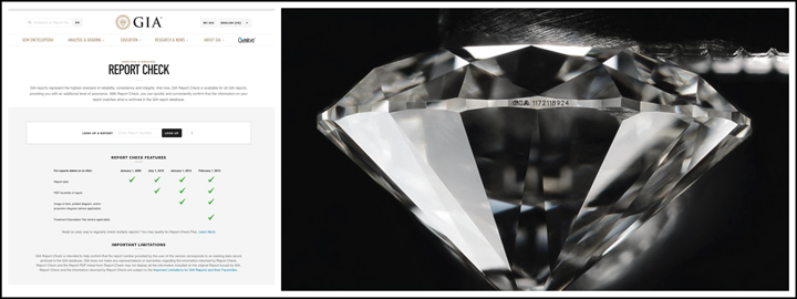 The GIA certificate will serve as proof of the diamond's qualities and value
