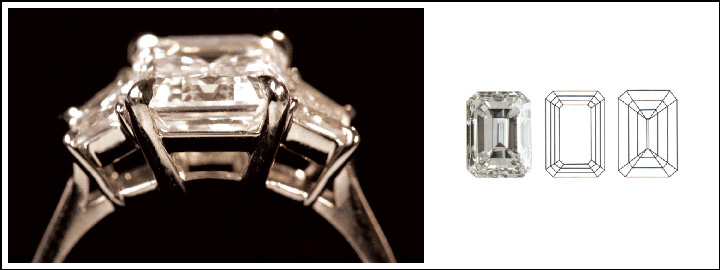 The emerald cut diamond represents sophistication and glamour