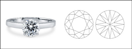 The round brilliant cut diamond is one of the most popular diamond cuts of all time