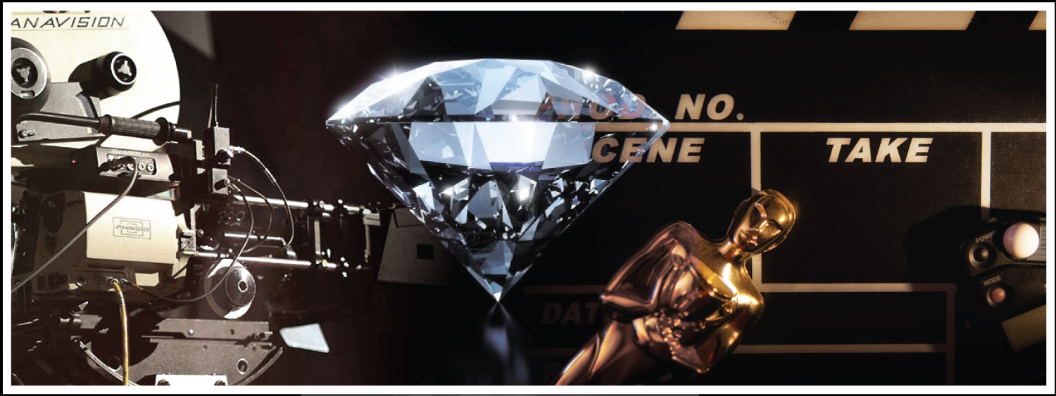 Diamonds have been taking over the spotlight in some of Hollywood's most memorable movie scenes