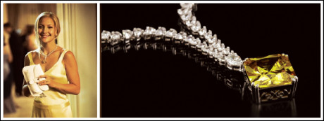 Kate Hudson's character receives an 84-carat yellow diamond pendant worth R69 million