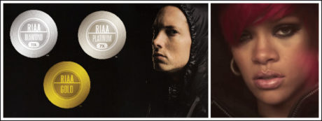 Eminem received two RIAA diamond certifications for his streams and marketing sales