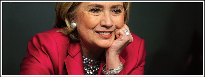 Hillary made a patriotic statement by showing off a 4.25 carat rough Kahn Canary diamond