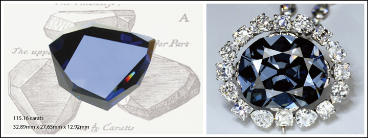 The Hope Diamond is a famous blue diamond that weighs an estimated 45.52 carats