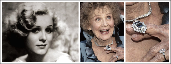 Gloria Stuart, who played the elder version of Rose wore a replica at the 1998 Academy Awards
