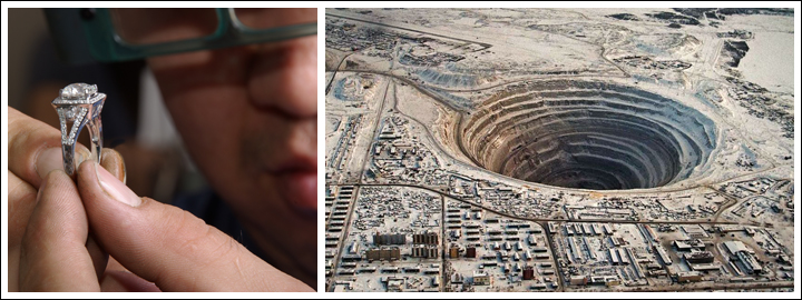 The country is home to five open-pit mines.
