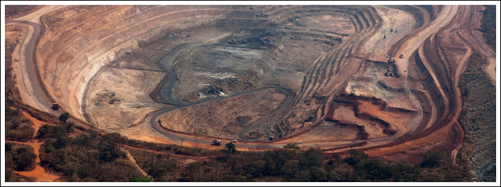 Most of the diamonds are discovered through alluvial mining by artisanal miners.