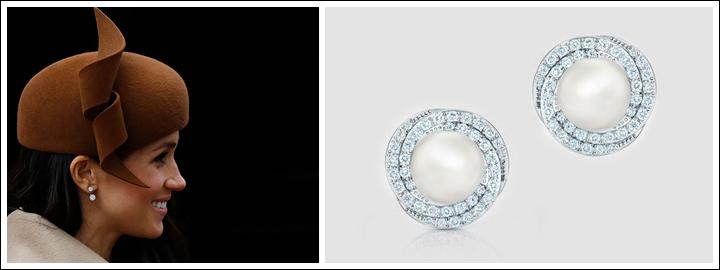 Meghan has always been a huge fan of elegant diamond earrings.