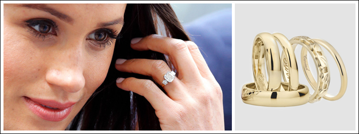 Meghan will most likely receive a gold wedding band to go with her engagement ring.