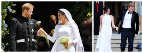 The couple were married at St George's Chapel, Windsor Castle.