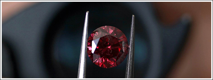 A red diamond's value is fairly evaluated using the 4Cs.