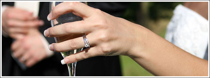 It's tradition for a person to wear a wedding or engagement ring on the left hand.