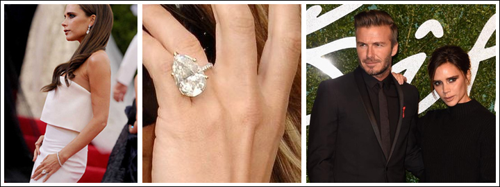 Victoria Beckham pear-shaped ring