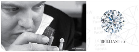The extraordinary Shimansky diamond cut has 71 facets.