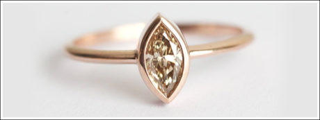 A champagne colour diamond is truly mesmerising and one-of-a-kind.