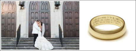 Engravings are one of the best ways to personalise your jewellery creations on your big day