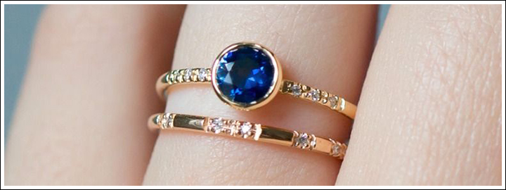 The remarkable blue hues of a tanzanite will take her breath away