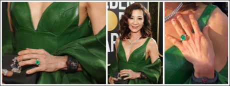 Michelle Yeoh wore diamond jewellery worthy of her immaculate and elegant character