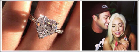 Lady Gaga's heart-shaped diamond ring from ex- fiancé, Taylor Kinney, is known for being one of the most popular diamond engagement rings of our time.