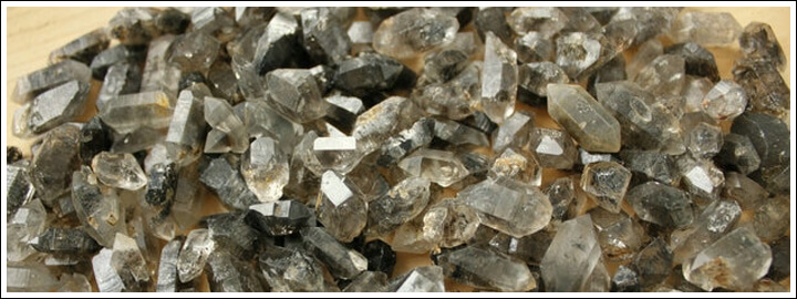 Black diamonds are made up of millions of smaller black crystals
