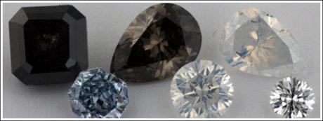 : Black diamonds are almost just as popular as colourless diamonds