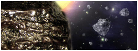 Black diamonds are believed to be from outer space